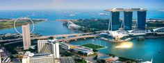 Photo about View of Singapore city skyline at sunset. Image of marina, hotel, asia - 46938344 Holiday In Singapore, Singapore City, Visit Singapore, Singapore Travel, Singapore Sights, Singapore Dollar, Marina Bay Sands, Cool Places To Visit, Places To Go