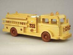 19-W3589+-+Fire+Truck+1980s+Style+Woodworking+Plan