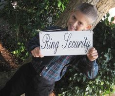 Rustic Wedding Sign Ring Security Ring Bearer by dlightfuldesigns, $15.00