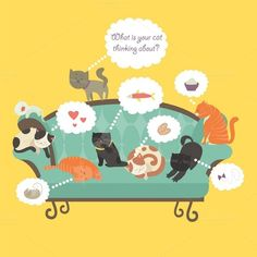Cats with speech bubble by masastarus on @creativemarket