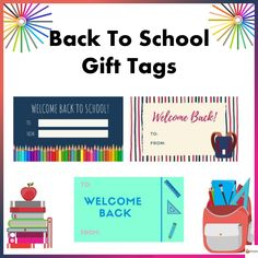 Spruce up your back to school giveaways to your students with our back to school gift tags Welcome Back To School, Back To School Gifts, School Fun, Text You, Gift Tags, Texts, Students, Teacher, Giveaways