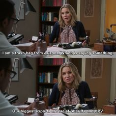 The Good Place - I am a trash bag from Arizona. Netflix Tv Shows, Movies And Tv Shows, Netflix Series, Holy Shirt, Ugly Betty, Great Comedies, Everything Is Fine, Himym, Trash Bag