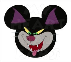 Lucifer the cat in Mickey Mouse head INSTANT DOWNLOAD digital clip art DIY iron on transfer My Heart Has Ears