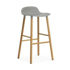 haus® - Form Bar Stool with Wooden Base by Simon Legald  Stool for Normann Copenhagen.