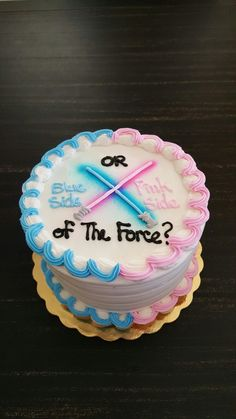 Star Wars gender reveal cake