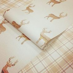 Wooden Stag wallpaper available at I Love Wallpaper. A beautiful contemporary stag design perfect for any living room, bedroom or dining room Stag Wallpaper, Love Wallpaper, Stag Design, Uk Homes, Building A House, Neutral, Weaving, Shabby Chic, Beige