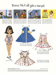 Betsy McCall Paper Dolls - 1957