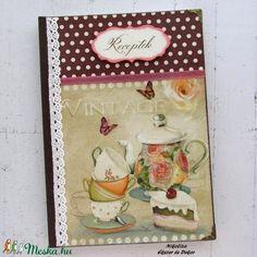 Vintage tea receptkönyv - RENDELHETŐ (NikoLizaDekor) - Meska.hu Vintage Tea, Monogram, Monograms