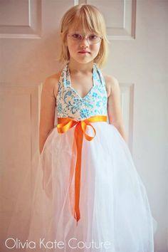 Summer Wedding  Flower Girl Dress by OliviaKateCouture