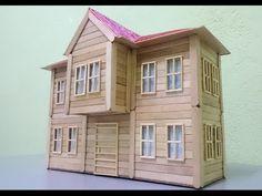 Maket Ev yapımı ''Cumbalı evler''- Dondurma çubuklarından Nasıl Yapılır?