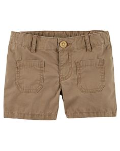 Toddler Girl Patch Pocket Poplin Shorts from Carters.com. Shop clothing & accessories from a trusted name in kids, toddlers, and baby clothes.