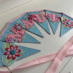 Beautiful bunting for a child's bedroom/nursery wall.