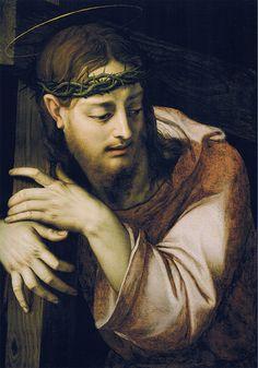 Bronzino - Christ bearing the cross (1555-60) Agnolo di Cosimo di Mariano, conosciuto come il BRONZINO (Monticelli di Firenze, 17 novembre 1503 – Firenze, 23 novembre 1572)   #TuscanyAgriturismoGiratola