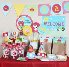 DIY - Farm Animals Printable Birthday Party Package $10 at Stock Berry Studios on Etsy