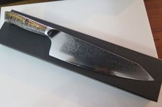 Damascus chef knife VG10 Japanese Hybrid Santoku Chef by EEKnives