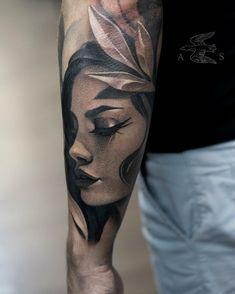 Tattoo Sasha Sorsa - tattoo's photo In the style Whip Shading, Male, Gir Tattoos Arm Mann, 13 Tattoos, Badass Tattoos, Rose Tattoos, Body Art Tattoos, Hand Tattoos, Girl Tattoos, Tatoos, Portrait Tattoo Sleeve