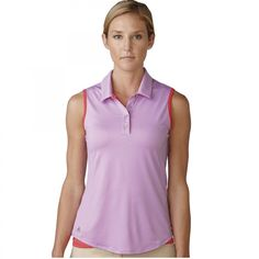 Adidas Womens Essentials Heather Sleeveless Polo from @golfskipin