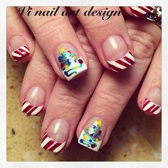 christmas by vinailartdesign  #nail #nails #nailart....love the tree!