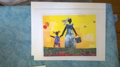 Greeting Card. Yellow Sky and Balloons. African by mirlande