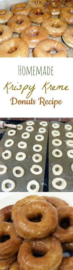 Homemade Krispy Kreme Donuts Recipe Copy Cat Krispy Kreme - Wonderfully Chewy…