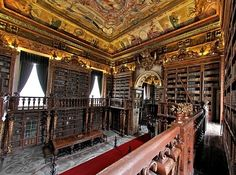 General Library at University of Coimbra — Coimbra, Portugal | 49 Breathtaking Libraries From All Over The World