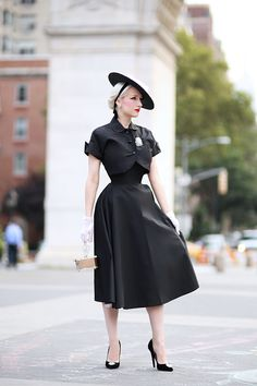 Rachel Ann Jensen ♥: Classic New Look Secret In Lace, Lady Jane, Vintage 1950s Dresses, Pin Up Style, Classic Outfits, Jacket Dress, Rockabilly, Editorial Fashion, New Look