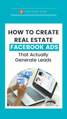 Learn how to create great real estate facebook ads that will actually convert to leads. Mastering your digital and social media marketing is the key to real estate success! #realestate #facebook #marketing #socialmediamarketing #agent #tips #theclose #success Real Estate Ads, Real Estate Marketing, Social Media Marketing, Facebook Marketing, First Ad, Facebook Business, Ad Design, Lead Generation, Virtual Assistant