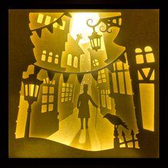 "Lightbox ""Geheimnisvolle Gasse""/""Mysterious Alley"""