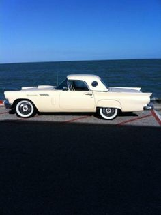 1957 Ford Thunderbird, White with Red Interior.