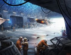 Snowspeeder launch bay in Echo Base by Mark Molnar