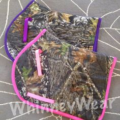 Custom camo AP saddle pads by WhinneyWear. Order at www.whinneywear.com
