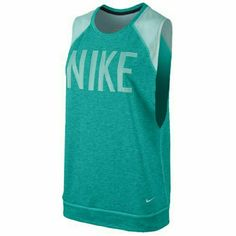 """NEW NIKE TRAINING GRAPHIC MUSCLE TANK TOP M BRAND NEW WITH TAGS NIKE Training GRAPHIC Muscle Shirt/tank top Sweatshirt like bodice and Mesh shoulders. DRI FIT material keeps you dry  RETAIL $50 Size MEDIUM  Color Aqua  19"""" chest un-stretched underarm to underarm  27"""" total length from shoulder to bottom    Check out my other listings. I have items NWT from MK Michael Kors, VS Victoria's Secret, Pink, Nike, Kate Spade, Jordan, True Religion and much more  T A G S: Gym Workout Tank Top Running…"""