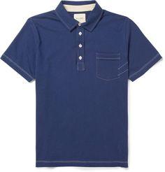 Billy Reid Pensacola Cotton-Jersey Polo Shirt | MR PORTER $90