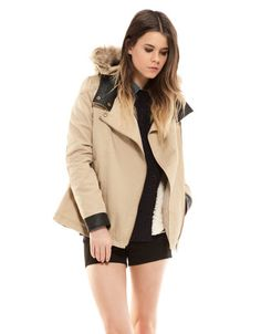 Bershka Turkey - BSK detachable lined hood parka