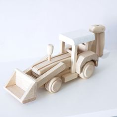 Wooden digger toy custom colour choice Wooden toy