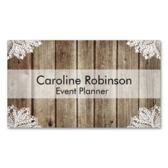 Vintage Rustic Wooden Lace Custom Business Cards. This is a fully customizable business card and available on several paper types for your needs. You can upload your own image or use the image as is. Just click this template to get started!