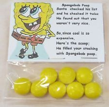 Novelty Gag  Gift Stocking Stuffer - Christmas  - Spongebob  Poop