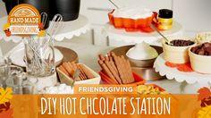 DIY Holiday Cocoa & Drink Station - HGTV Friendsgiving