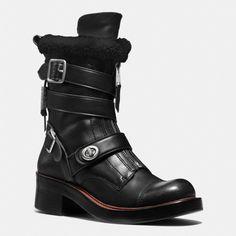 COACH Designer Boots   Zip Moto Boot