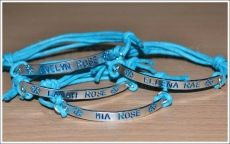 Personalised Frozen Inspired Hand Stamped Bracelet