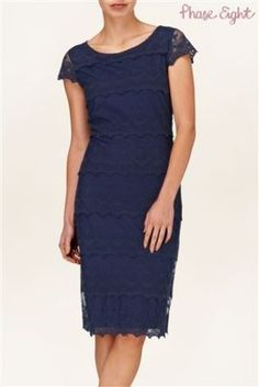 Buy Phase Eight Maura Lace Tiered Dress, Navy from our Women's Dresses Offers range at John Lewis & Partners. Dresses For Sale, Dresses For Work, Latest Fashion For Women, Womens Fashion, Phase Eight, Tiered Dress, Occasion Dresses, Blue Dresses, Women's Dresses