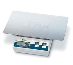 """Edlund Scale Digital Portion 160 oz x .1 oz (5000 gm x 1 gm) - #E-160 OP    Scale, Digital Portion, top loading counter model, oversized 11"""" x 7"""" platform, digital display, battery or A/C, 160 oz x .1 oz (5000 gm x 1 gm), plastic body & stainless steel platform, automatic push button tare, NSF certified Kitchen Scales, Professional Kitchen, Digital Scale, Counter, Restaurants, Commercial, Platform, Stainless Steel, Plastic"""