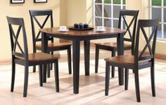 "5 Piece Pack Walnut Top Table and 4 Chair #AD 91177,91178 by HP. $599.99. table:40""DIA,x29""H. 4 high back walnut top seat chairs. 5 Piece Pack table and 4 chair. chair: 37 1/2""H. walnut top table. some assembly maybe required."