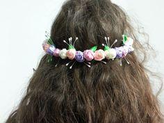 Flower crown wedding headpiece flower crown bridal by Fialo4ka555