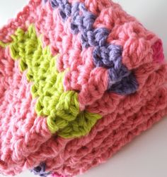 Apple Blossom Dreams: Stash-Buster #15 - Changing Dishcloth Directions I