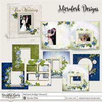 Adriana Indigo Wedding Album Yellow Gold Edition
