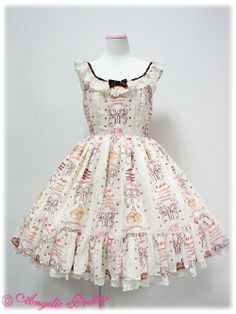 {Angelic Pretty} Petit Patisserie tiered JSK in ivory
