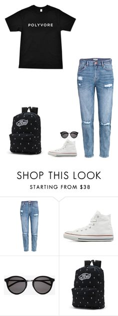 """""""#ContestOnTheGo #ContestEntry"""" by ola-smigielska ❤ liked on Polyvore featuring H&M, Converse, Yves Saint Laurent, Vans, contestentry and ContestOnTheGo"""
