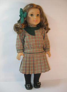 1914-1101   18 Inch Doll Clothes American Girl Rebecca Dress. $45.00, via Etsy.
