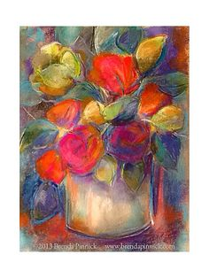 Colourful Impressionistic Original Pastel Painting~ By Brenda Pinnick.